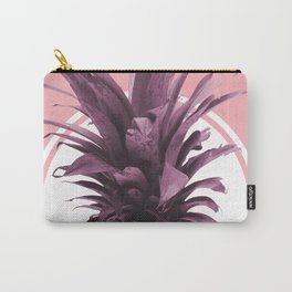 Pineapple Print - Tropical Wall Art - Botanical Print - Pineapple Poster - Purple - Minimal, Modern Carry-All Pouch
