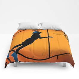 Basketball Player Silhouette Comforters