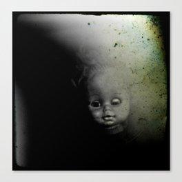 Ghostly Doll Head Canvas Print