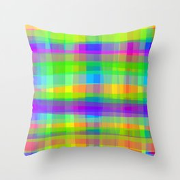 Psychedelic Fabric Texture Pattern Throw Pillow