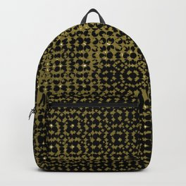 Yellow pattern on a black background. Backpack
