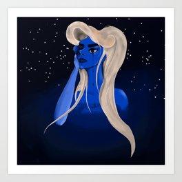 Blueandblonde Art Print