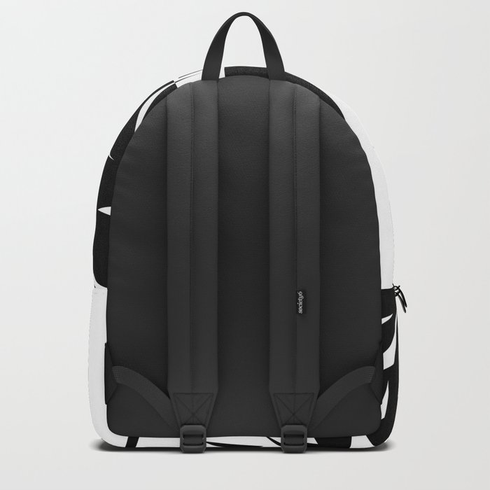 Abstract rose. black and white . 1 Backpack