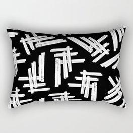 A Field of Crossed Members Rectangular Pillow