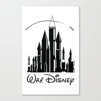 war Canvas Prints featuring War  by Tony Vazquez