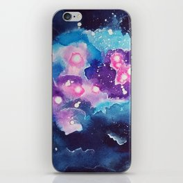 Tiny Astronaut and the Blue Nebula iPhone Skin