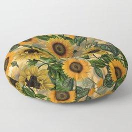 Vintage & Shabby Chic - Sunflowers Flower Garden Floor Pillow