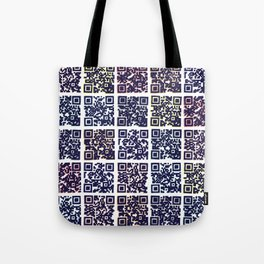 QR Codes to Playlists Tote Bag