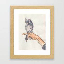 Poised Bird Framed Art Print