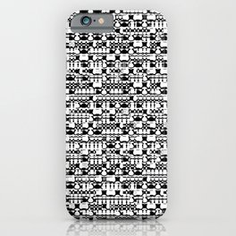 Black and white geometric shapes iPhone Case