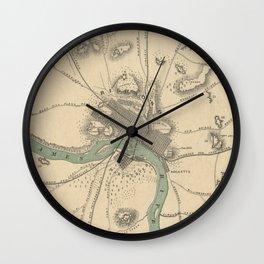 Vintage Map of Richmond Virginia (1867) Wall Clock