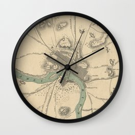Vintage Map of Richmond Virginia (1867) Wall Clock