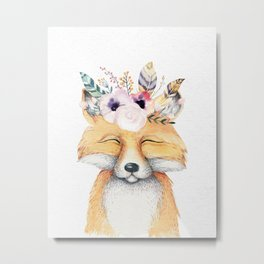 Forest Fox by Nature Magick Metal Print
