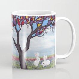 bunnies and the stained glass tree Coffee Mug