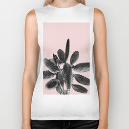 Black Blush Cactus #1 #plant #decor #art #society6 Biker Tank