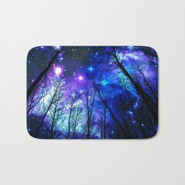 black trees purple blue space copyright protected Bath Mat