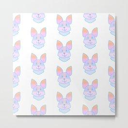 Adorable Pastel Corgi Pattern Metal Print