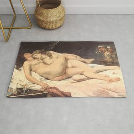 Victorian Lesbians, Gustave Courbet, 1866 Rug