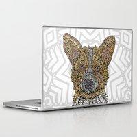 corgi Laptop & iPad Skins featuring Welsh Corgi by ArtLovePassion