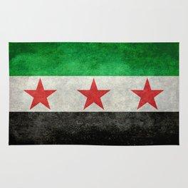 Syrian independence flag, vintage style Rug