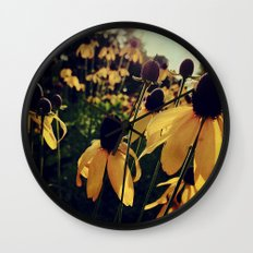 Sunshine and Flowers Wall Clock