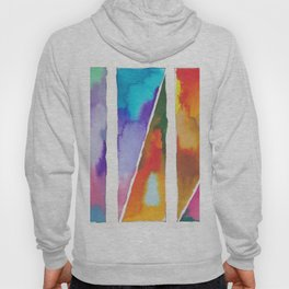 180811 Watercolor Block Swatches 3 | Colorful Abstract |Geometrical Art Hoody