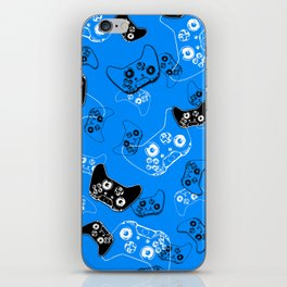 Video Game in Blue iPhone Skin