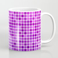 mosaic Mugs featuring Pink purple mosaic by David Zydd