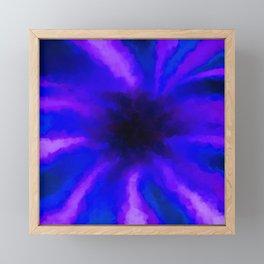 Ultra Violet Beams Captured by a Black Hole Framed Mini Art Print