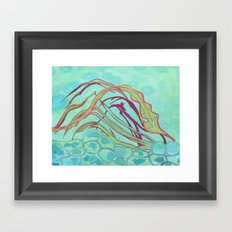 Underwater Plants Dance Framed Art Print