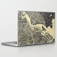 amsterdam Laptop & iPad Skins featuring Amsterdam by Map Map Maps