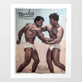 Muscles Magazine Art Print