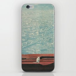 White Cat In A Snowstorm iPhone Skin