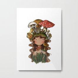 Mushroom hair Metal Print