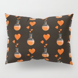 Love Chemistry Flask of Hearts Pattern Pillow Sham
