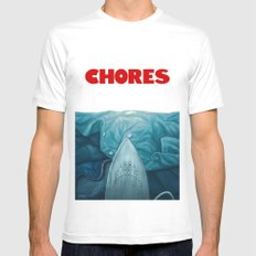 Chores (2015 version) MEDIUM Mens Fitted Tee White