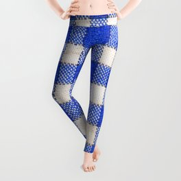 Gingham / vichy Pattern -strips,fashion,squares,french,vichy, gingham,bistrot,textiles,indie Leggings