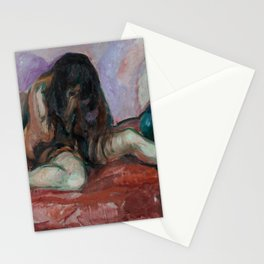 Edvard Munch - Weeping Nude Stationery Cards