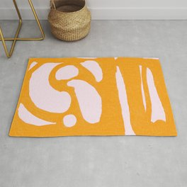Abstract in Yellow and Cream Rug