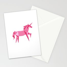 Origami Unicorn Stationery Cards