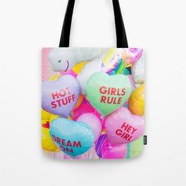 Conversation Heart Balloons Tote Bag