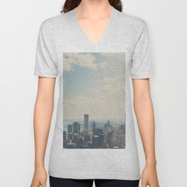 Looking down on the city ... Unisex V-Neck