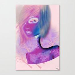Tattooed Girl  Canvas Print