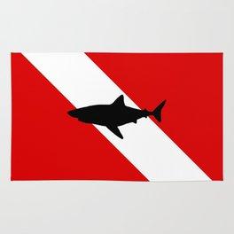 Diving Flag: Shark Rug