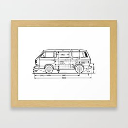 Vintage Bus Syncro Framed Art Print