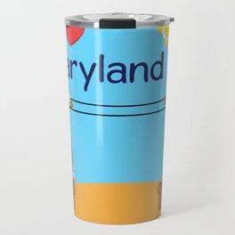 Ernest and Coraline | I love Maryland Travel Mug