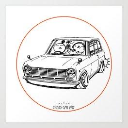 Crazy Car Art 0198 Art Print