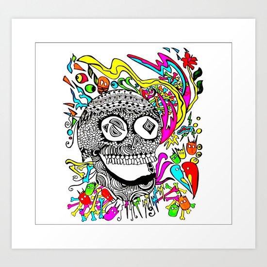 The Candy Skull Art Print