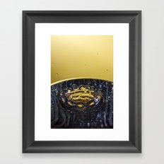 Water splash Framed Art Print