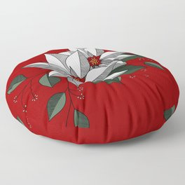 Holiday Flowers Floor Pillow